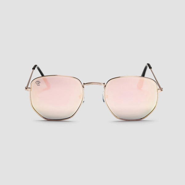 CHPO Ian Sunglasses Gold/Pink Mirror - Unisex - Accessories