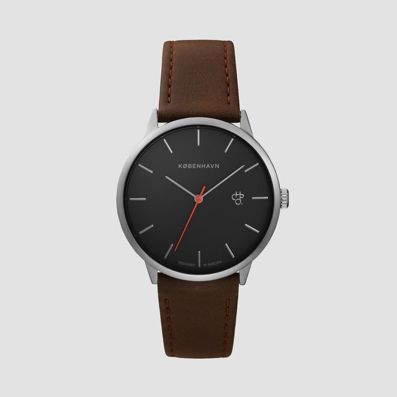 CHPO Khorshid Kobenhavn Watch Betong/Brown/Vegan Leather Strap - Unisex