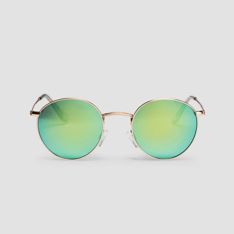 CHPO Liam Sunglasses Gold/Green Mirror - Unisex