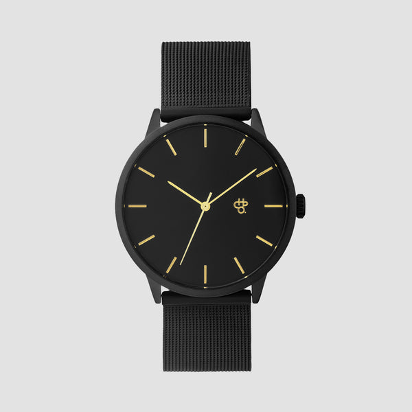 CHPO Nando Black Gold Watch Black Metal - Unisex