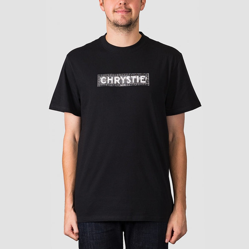 Chrystie Station Logo Tee Black - Clothing