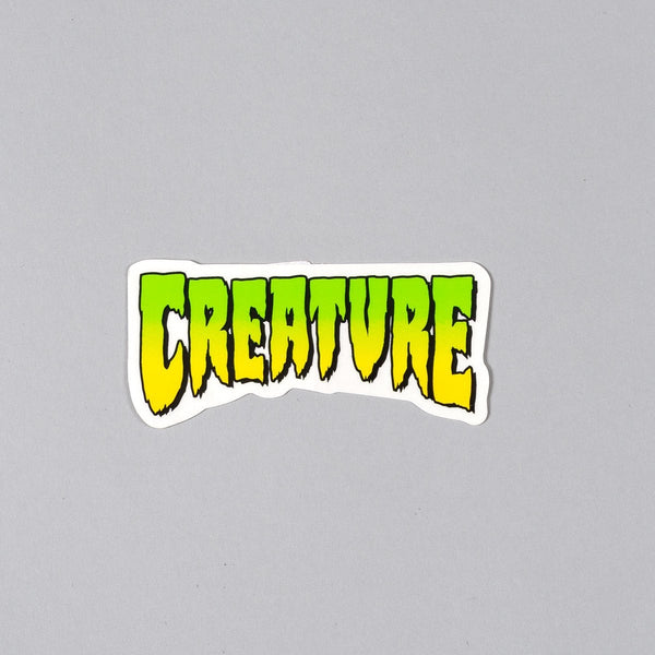 Creature Logo Sticker Green 100mm x 45mm - Skateboard