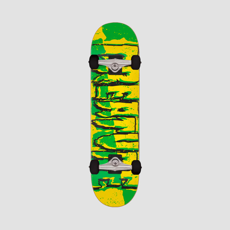 Creature Ripped Logo Micro Pre-Built Complete Green/Yellow - 7.5""