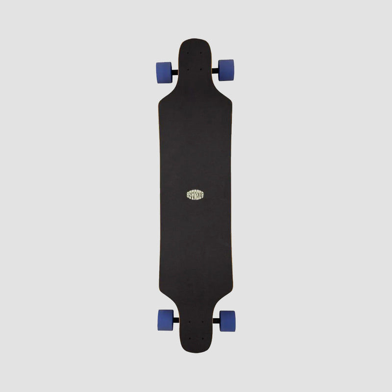 D Street Tripout Drop Down Full Grip Longboard Grey - 40""