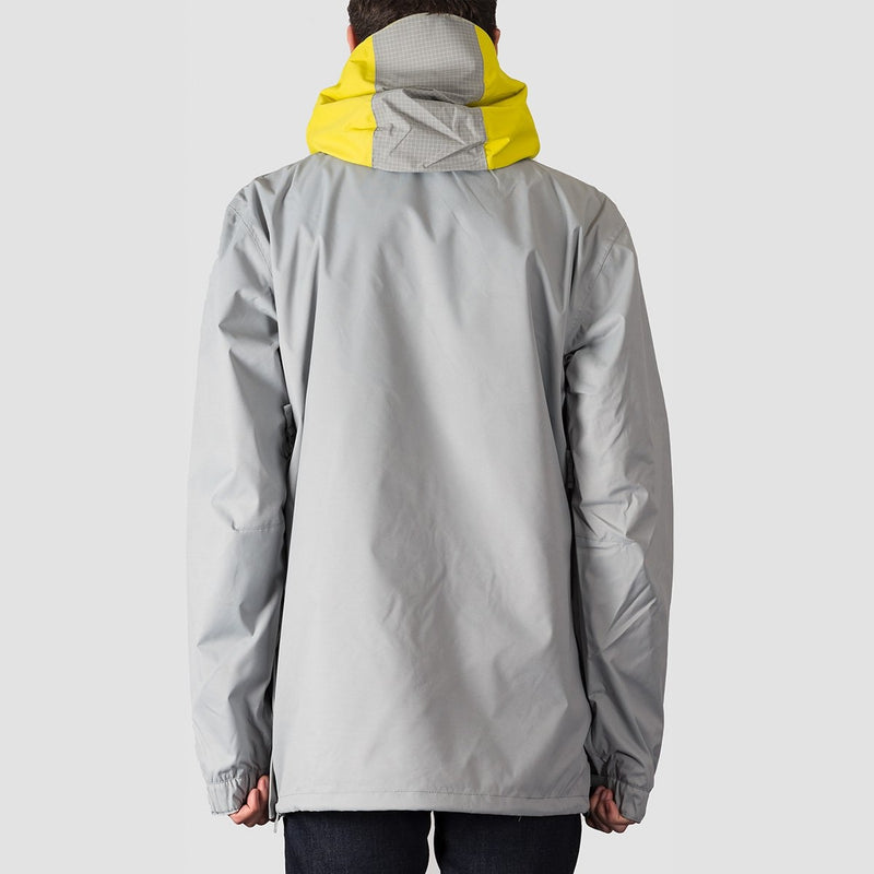 DC Asap Anorak Packable Snow Jacket Neutral Grey - Snowboard