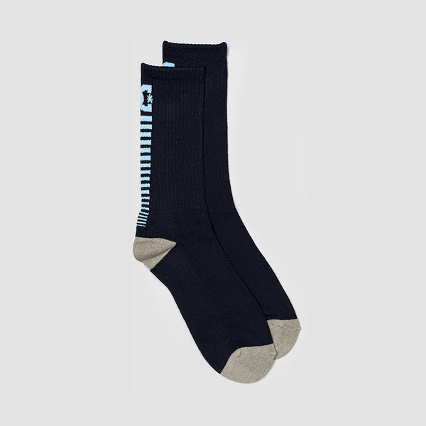 DC Back Smack Crew Socks Black Iris
