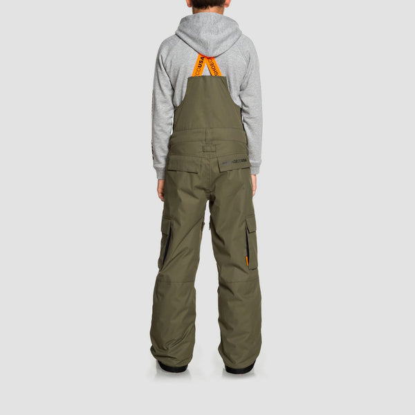 DC Banshee Snow Bib Pants Olive Night - Kids