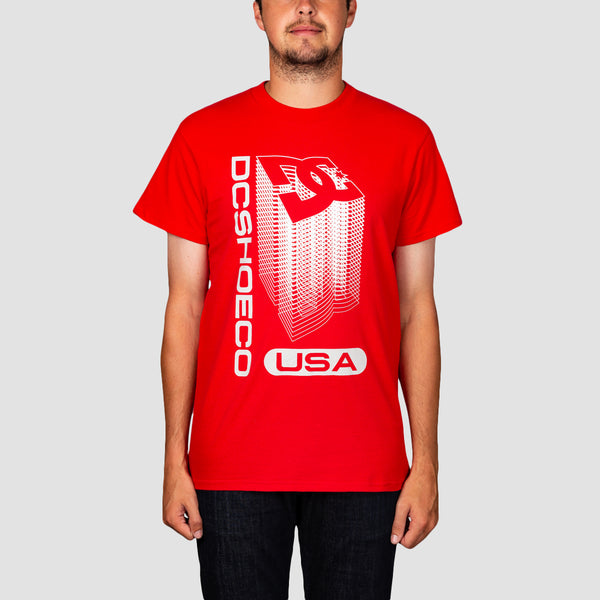 DC Big Jump Tee Racing Red