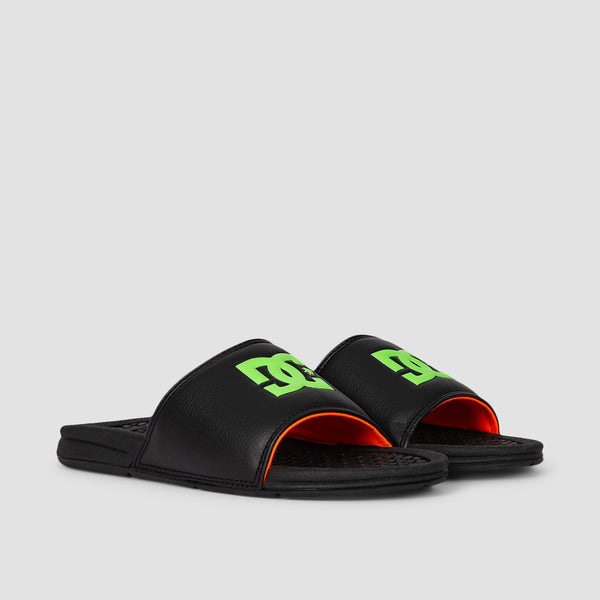 DC Bolsa Slide Sandals Black/Green/Orange