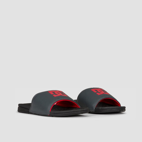 DC Bolsa Sliders Black/Grey/Red - Footwear