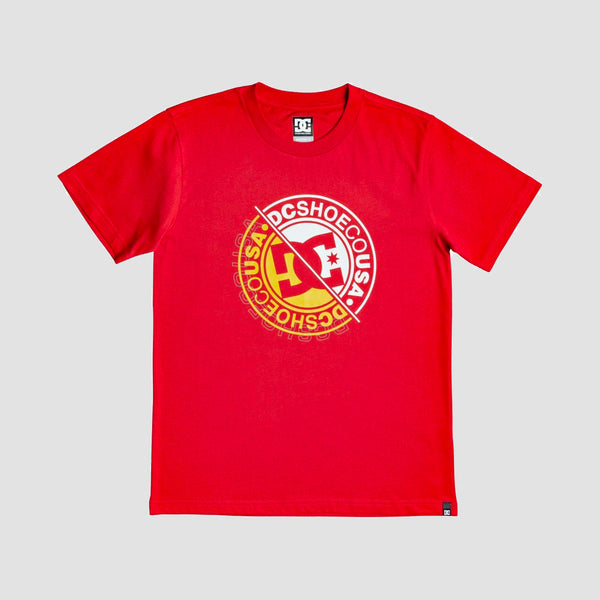 DC Bright Roller 3 Tee Racing Red - Kids