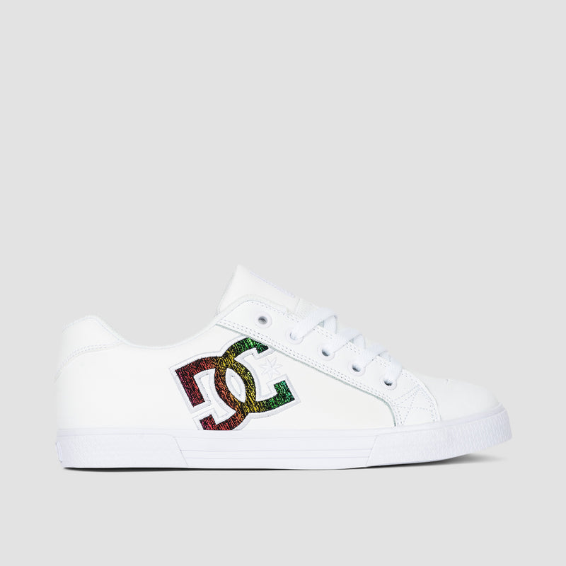 DC Chelsea White/Rainbow Sparkle - Womens