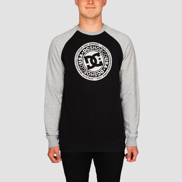 DC Circle Star Crew Sweat Black/Grey Heather