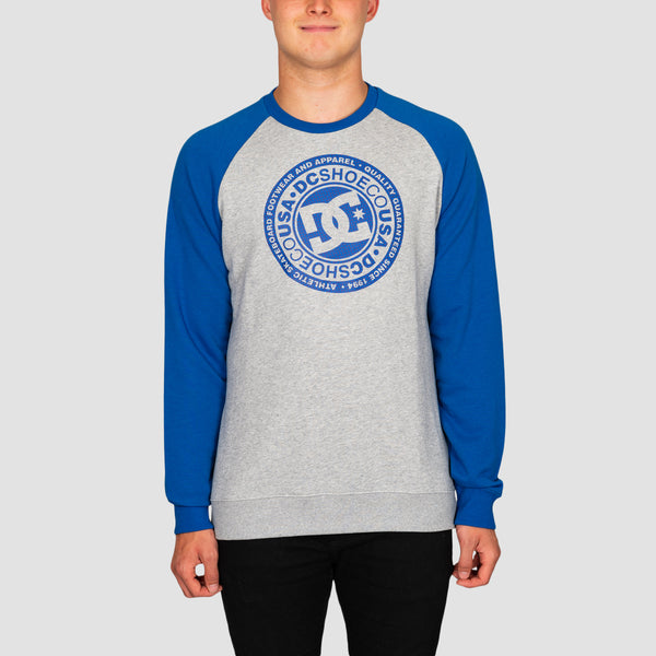 DC Circle Star Crew Sweat Grey Heather/Nautical Blue P