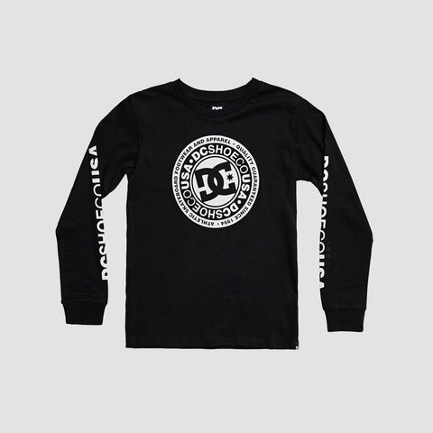 DC Circle Star Long Sleeve Tee Black - Kids