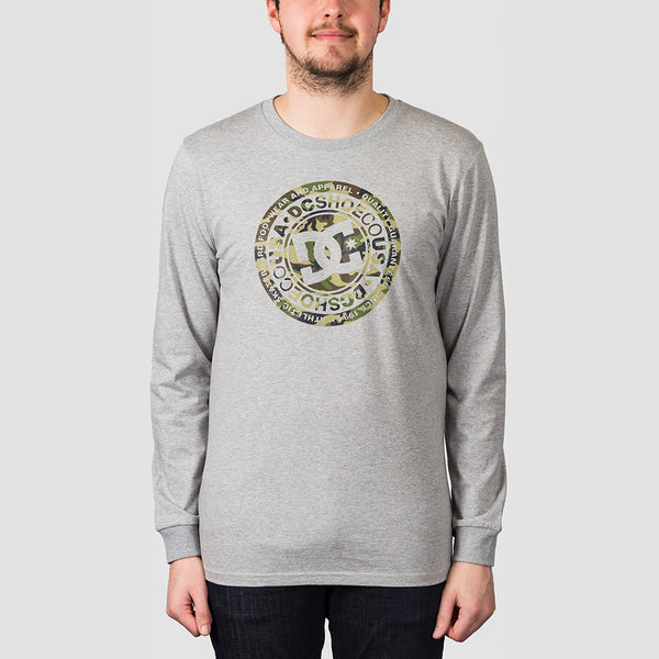 DC Circle Star Long Sleeve Tee Grey Heather/Camo