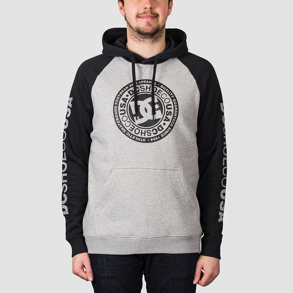 DC Circle Star Pullover Hood Grey Heather/Black