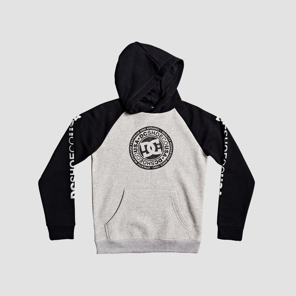 DC Circle Star Pullover Hood Grey Heather/Black - Kids