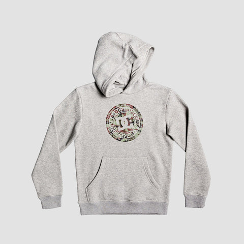 DC Circle Star Pullover Hood Grey Heather/Camo - Kids