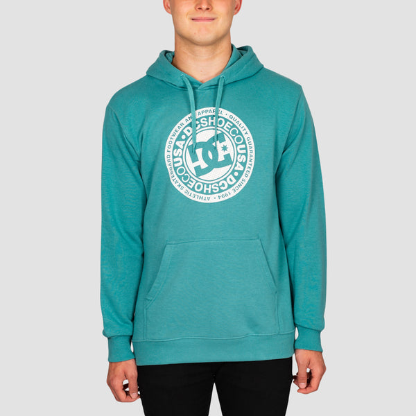 DC Circle Star Pullover Hood Teal/Snow White P