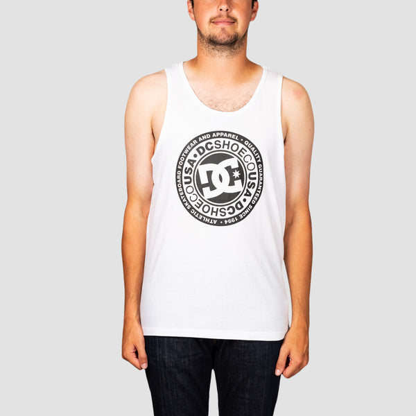 DC Circle Star Tank Vest Snow White/Black
