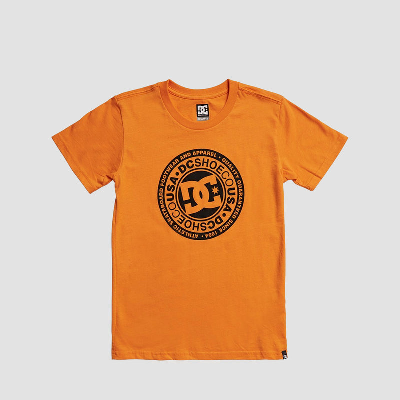 DC Circle Star Tee Orange Popsicle/Black - Kids