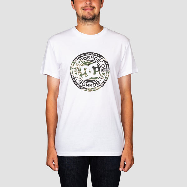 DC Circle Star Tee Snow White/Camo