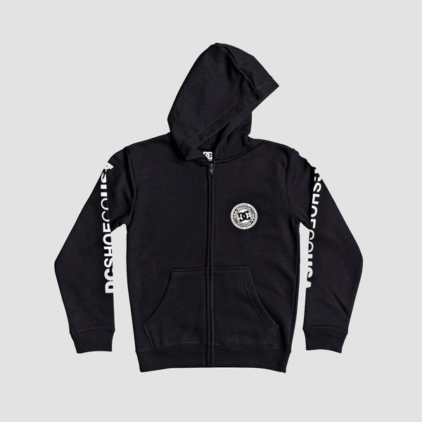 DC Circle Star Zip Hood Black/White - Kids
