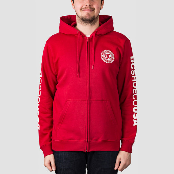 DC Circle Star Zip Hood Chili Pepper/White