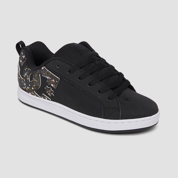 DC Court Graffik Black/Splatter - Womens