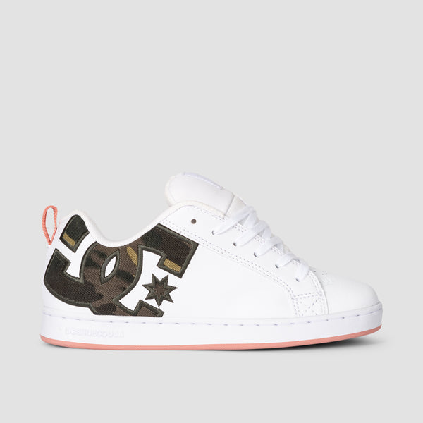 DC Court Graffik S White/Camo - Womens