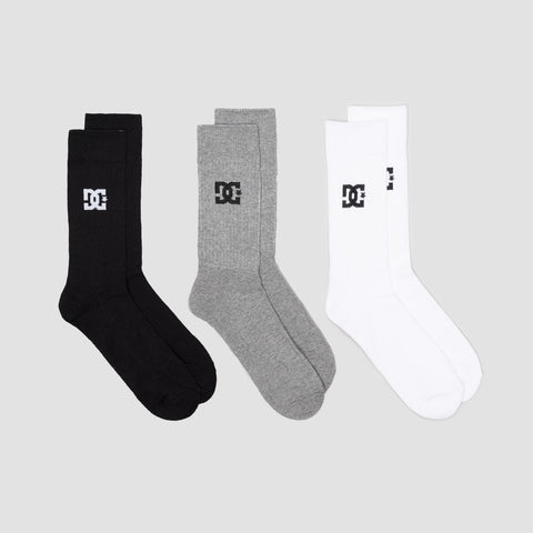 DC Crew Socks 3 Pack Assorted