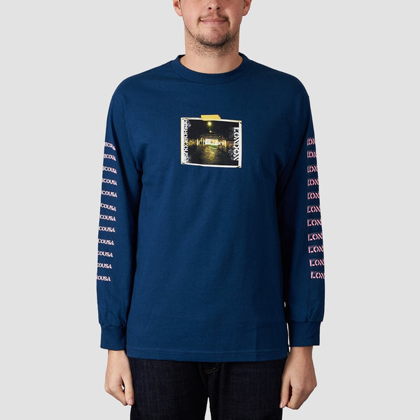 DC DClondon Long Sleeve Tee Sodalite Blue - Clothing