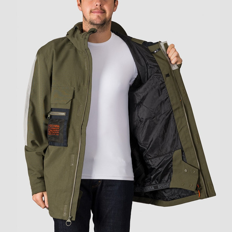 DC Defiant Snow Jacket Olive Night - Snowboard