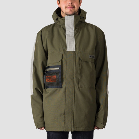 DC Defiant Snow Jacket Olive Night