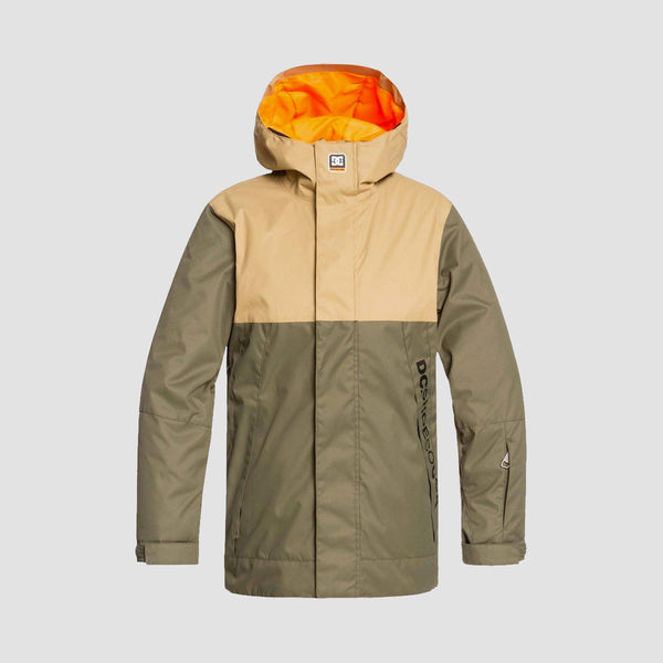 DC Defy Snow Jacket Olive Night - Kids