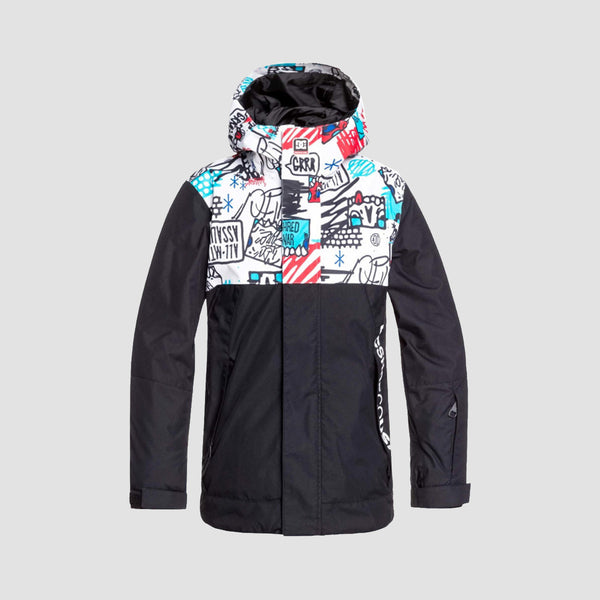 DC Defy Snow Jacket White Mini Ply Print - Kids