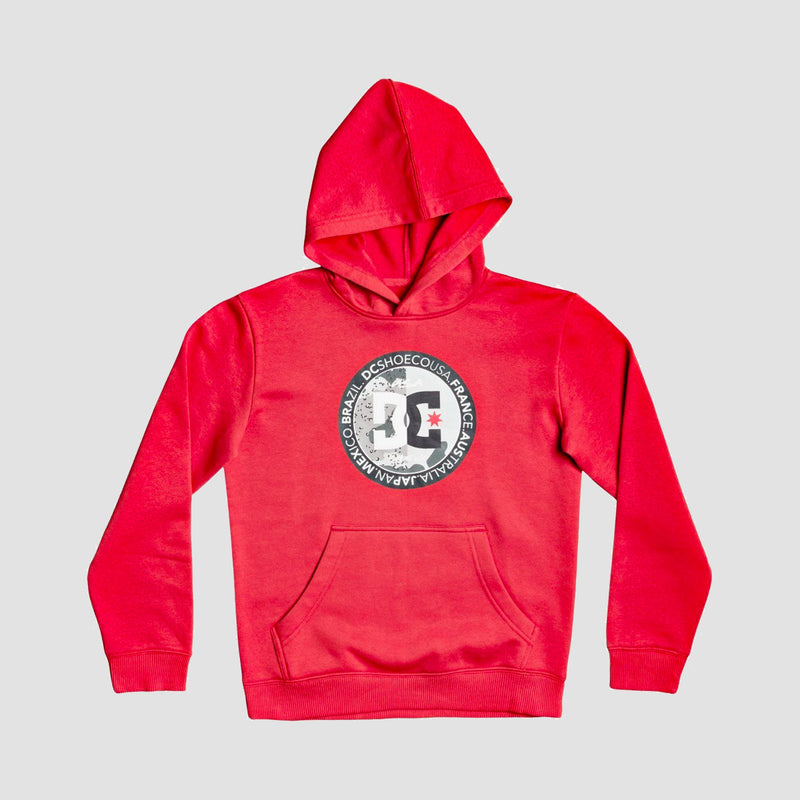 DC Divide And Conquer Pullover Hood Racing Red - Kids