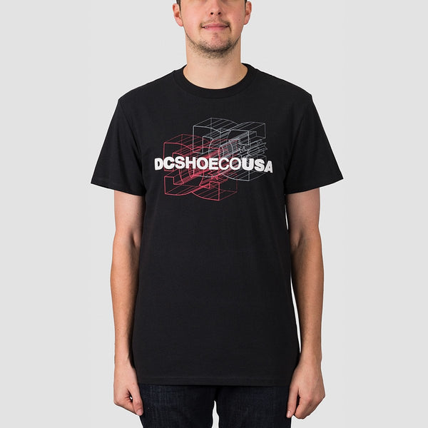 DC Double Dimension Tee Black - Clothing