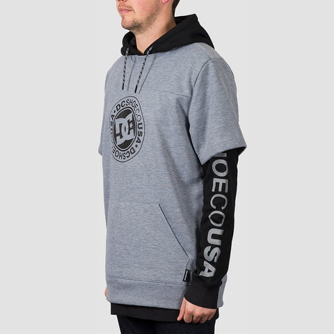 DC Dryden Double Sleeve Pullover Hood Black - Snowboard