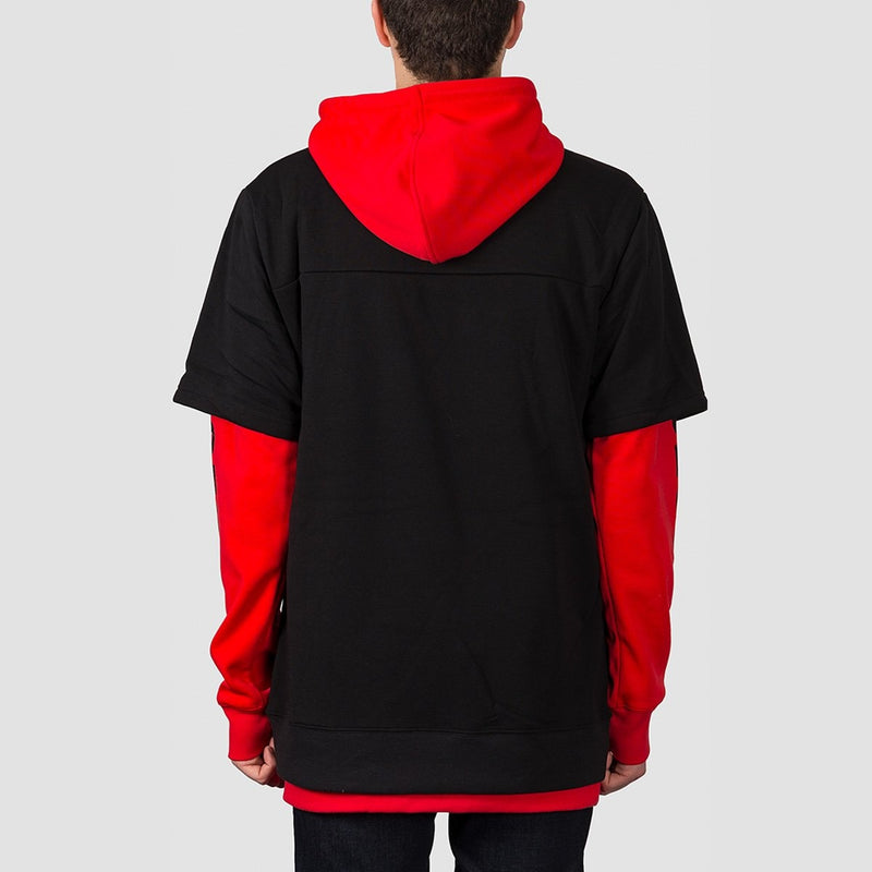 DC Dryden Double Sleeve Pullover Hood Racing Red - Snowboard