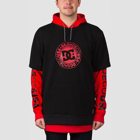DC Dryden Double Sleeve Pullover Hood Racing Red