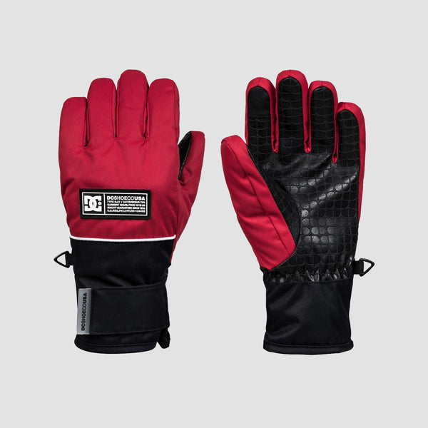 DC Franchise 8-16 Years Snow Gloves Racing Red - Kids