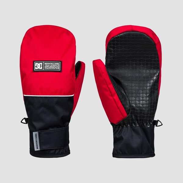 DC Franchise Snow Mittens Racing Red - Snowboard