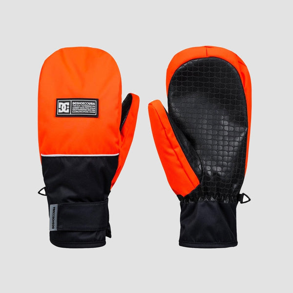DC Franchise Snow Mittens Shocking Orange - Snowboard
