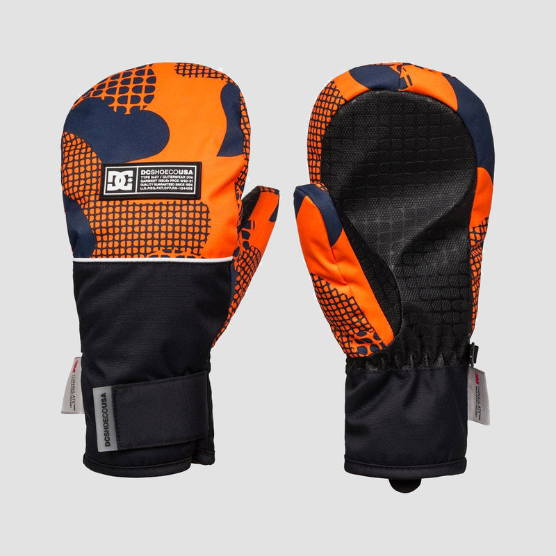 DC Franchise 8-16 Years Snow Mittens Youth Pill Camo Shocking Orange - Kids