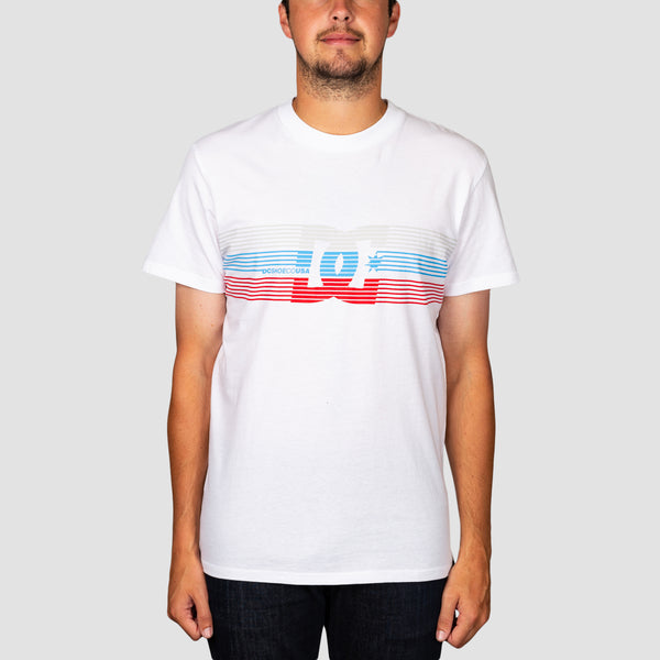 DC Front Surface Tee White
