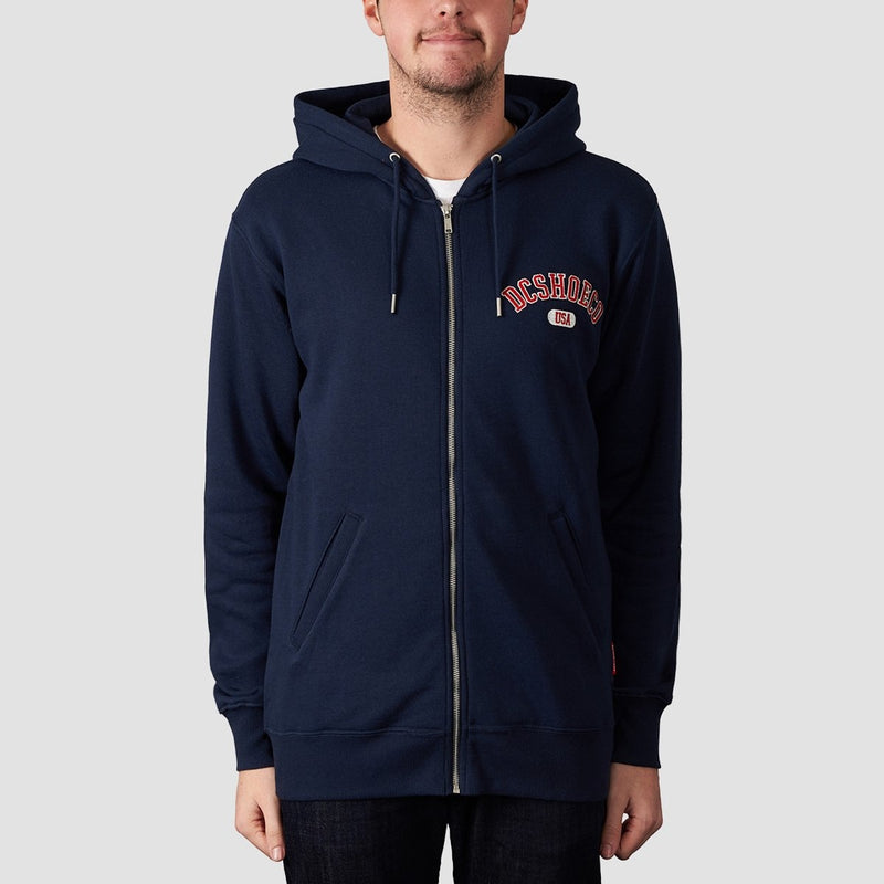 DC Glenridge Zip Hood Black Iris - Clothing