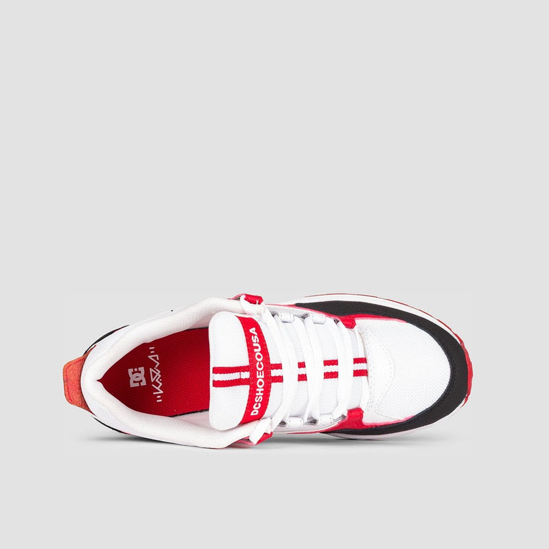 DC Kalis Lite White/Black/Athletic Red - Kids - Footwear