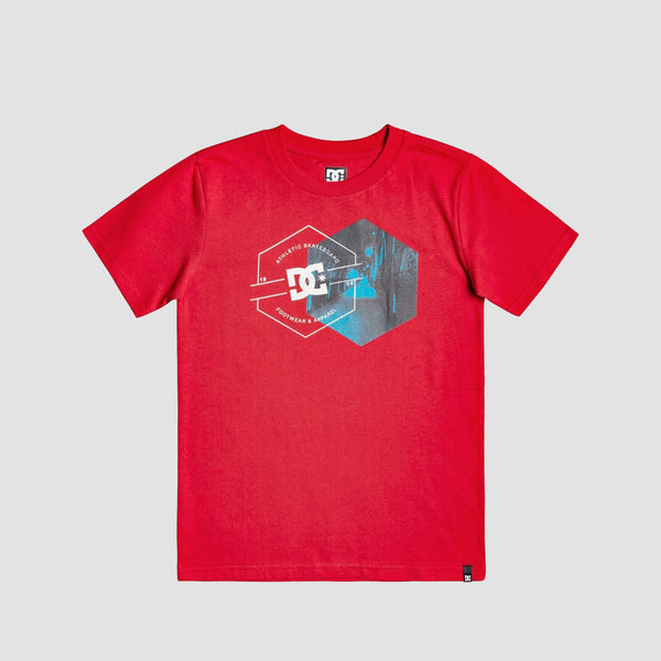 DC Karved City Tee Racing Red - Kids